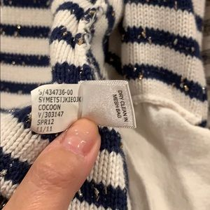 Banana Republic Sweaters - Banana Republic Sweater Striped Navy White Gold